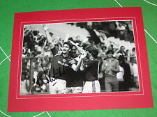 Norman Whiteside Signed & Mounted Manchester United 1985 FA Cup Final Photograph