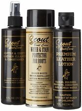 Scout Exotic Boots Care Cleaning Kit Cleaner Conditioner Protector Preserver