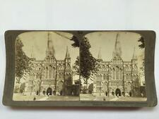 Vintage Stereoscopic Slide North West Facade Salisbury Cathedral