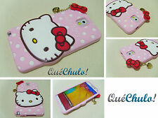 FUNDA CARCASA SILICONA PARA SAMSUNG GALAXY NOTE 3 N9000 HELLO KITTY ROSA + FILM