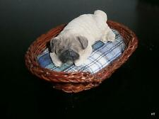SANDICAST LI'L SNOOZER- PUG- FAWN MADE IN USA & SIGNED