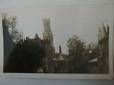 Tower of Holy Blood Bruges Belgium 1930s Real Photograph Old Postcard 1935