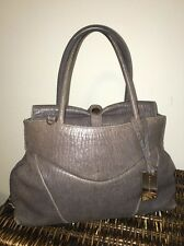 ��Coccinelle Distressed Gray Taupe Slouchy Double Handle Tote Doctors Bag��