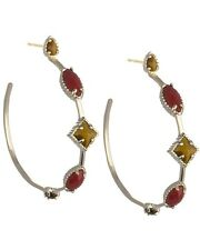 New Kendra Scott Lexus Hoop Earrings in Red Chariot $70