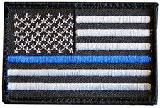 POLICE THIN BLUE LINE POLICE LAW ENFORCEMENT IRON ON MORALE SWAT PATCH