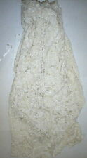 New Womens 6 NWT Designer Antonio Marras Italy Dress 42 Silk Bead Overlay Ivory