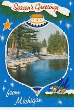 MICHIGAN SEASONS GREETINGS MANISTEE RIVER BY J.PENROD  (CD#2*)