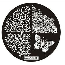 Nail art Stamping plate. Hehe 004. Original plate. Stamping manicure gift.