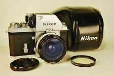 NIKON Ftn Photomic 35mm camera with Nikkor-H 28mm f3.5 wide lens and case. NICE!
