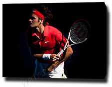 "ROGER FEDERER CANVAS 30""x20"" ART PRINT POSTER PHOTO PICTURE TENNIS UN SIGNED"