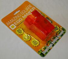 NEW AMAZING SQUARE EGG MAKER CUBER MAKE CUBE BOILED EGGS! PMS ORANGE
