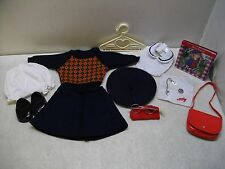 AMERICAN GIRL DOLL MOLLY'S MEET OUTFIT & ACCESSORY SET W/PENNY NECKLACE GLASSES