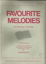 Favorite melodies vol 2 gr 2 bach chopin rameau strauss etc piano partitions