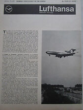 9/1969 ARTICLE 5 PAGES LUFTHANSA GERMAN AIRLINES BOEING 747 707-330B 737