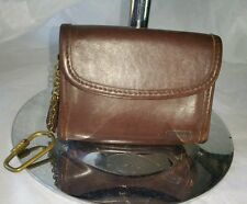COACH Vintage Brown Leather Small Card Holder  Wallet Coin Purse