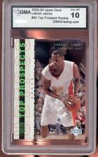 Lebron James Rookie RC 2003/2004 UD TOP PROSPECTS #60 GMA 10
