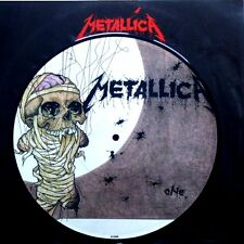"""EX/EX METALLICA ONE / SEEK AND DESTROY (LIVE) 10"""" VINYL 45 PICTURE PIC DISC"""