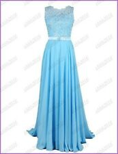 Stock Long Lace Bridesmaid Evening Formal Dress Party Ball Gown Prom Bridal 6-22