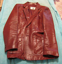 Americana Leather Corporation Leather Western Style 6 Pocket Jacket - Size 42