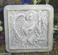 "angel playing guitar plastic mold concrete mould 8"" x 8"" x 1"""