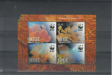 Niue 2012 MNH Giant Sea Fan 4v Sheet WWF Annella Mollis