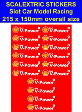 Slot car Scalextric stickers Model Race shell v-power Logo 4 Lego Ferrari decal