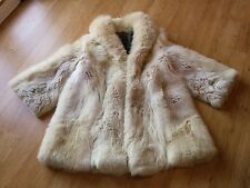 GREAT WHITE / SHADOW / ARCTIC FOX  FUR COAT / JACKET SIZE LARGE / XL / 12 / 14