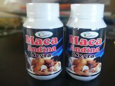 Peruvian Black Maca Capsules 500mg/200 capsules Cultivated more than 4000 AMSL.