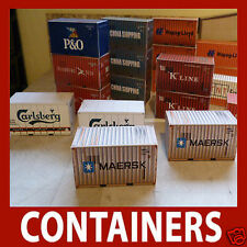 Shipping Container Model Card Kits N Scale 20ft 40ft, 45ft, 48ft, 53ft +FREEPOST