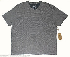 NWT PD&C Charcoal Short Sleeve V-Neck Cotton T-Shirt BIG-TALL Size 5X