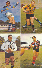 1971 MOBIL LEAGUE PHOTOS CARD RITCHIE TWIST WESTS RUGBY FOOTY # 4