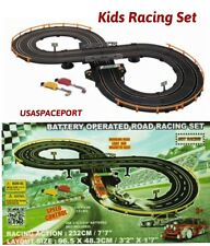 My First Kids RC ROAD RACING SET 7' Race Track +2 Slot Cars Battery Operated Lot