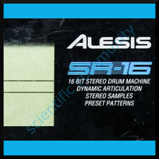 Alesis SR16 firmware OS upgrade: version 1.04