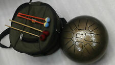 Tongue Drum handpan/Tank Drum/steel tonqe drum made in India perfect tuned440 Hz