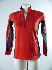 Löffler Damen Funktions Langarm Shirt Sport Top Fleece in Gr. 36 XS Rot Schwarz