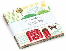 "Farm Fun Moda Charm Pack 42 100% Cotton 5"" Precut Quilt Squares"