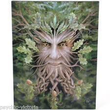 GREEN MAN - OAK KING WALL PLAQUE BY ANNE STOKES PAGAN WICCA FREE P@P