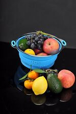 Sailing Premium Silicone Collapsible Colander/Strainer with Stainless Steel Base