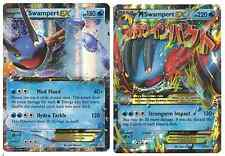 Swampert EX & Mega M Swampert EX XY 55 and XY 87 Ultra Rare Pokemon Cards! NM
