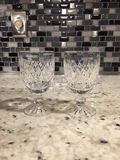 "2  Waterford Crystal 4¾"" Claret / Port Wine Goblets Irish Cut Crystal ~ BOYNE"