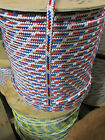 "1/2"" X 100' Halyard Sail line,Anchor Line Double Braid Polyester 8500 lb USA"