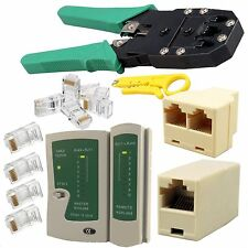 Network LAN Kit Cat5e Cat6 RJ45 RJ11 Cable Tester Joiner Crimper Crimping Tool