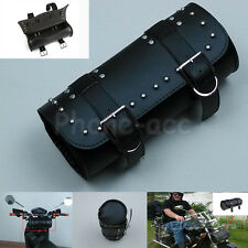 Retro PU Leather Bike Bicycle Cycling Motorcycle Saddle Bag Pannier Pouch Box