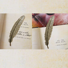 2pcs Vintage Retro Feather Bookmarks Book Magazine Accessories Hot