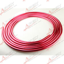 "ALUMINIUM Fuel LINE 3/8"" 9.5MM X 25 Ft (7.6m) ROLL FUEL /OIL /WATER /E85 RED"