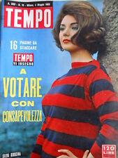 TEMPO n°18 1963 Silva Koscina - Onorevole Fanfani - Partiti votazioni [C87]