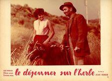 CATHERINE ROUVEL  LE DEJEUNER SUR L'HERBE 1959 VINTAGE LOBBY CARD ORIGINAL #4