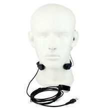 Black 2 pin Acoustic Tube Earpiece Throat Mic Headset for Midland GXT600, GXT650