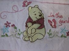 Disney Collection Pink Pooh In the Garden Baby Girl Blanket w/Ruffled Edge