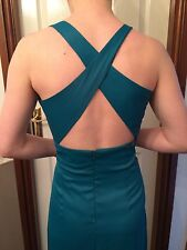 REN ART INDIGO BLUE/GREEN PARTY SPECIAL OCCASION PROM CORSET BACK DRESS SIZE 12